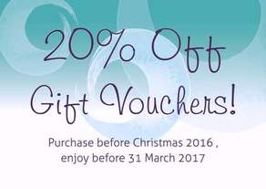 20% off Gift Voucher offer for Shiatsu at the Healthy Life Centre and Santosa